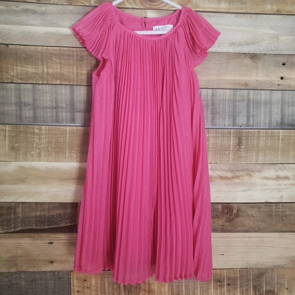 H&M Other - H&M Girl Pleated Dress Pink 5-6 years.